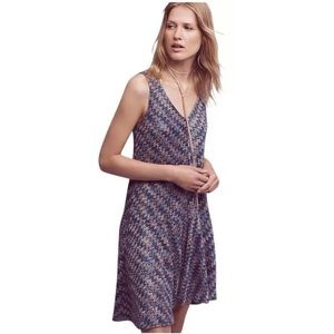 NWT Maeve Anthro Blue Motif Chevron Dress XXS